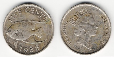 5 cents 1988