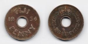1 пенни 1954 года
