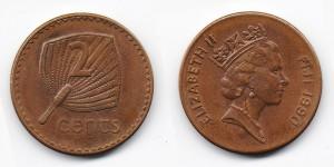 2 цента 1990 года