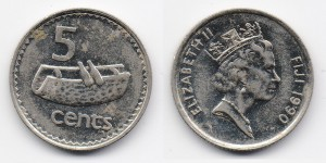 5 центов 1990 года