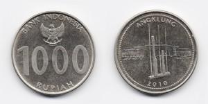 1000 рупий 2010 года