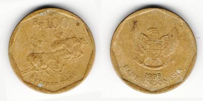 100 рупий 1995 года