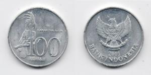 100 рупий 2001 года