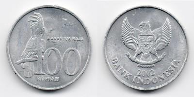 100 рупий 2002 года