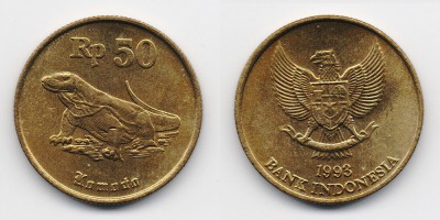50 rupiah 1993