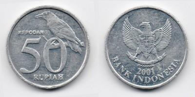 50 rupiah 2001