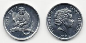 1 цент 2003 года Обезьяна