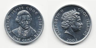 1 цент 2003 года Капитан Джеймс Кук