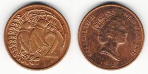 2 цента 1987 года