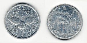 1 франк 2005 года
