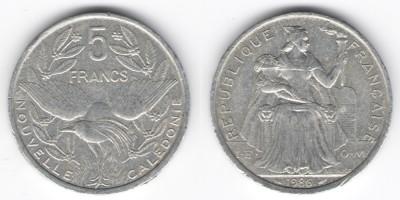 5 francs 1986