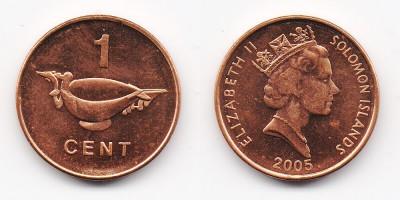 1 цент 2005 года