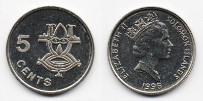 5 центов 1996 года