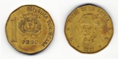 1 песо 1991 года