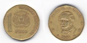 1 песо (peso) 2002 года