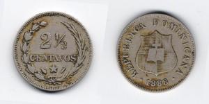 2,5 сентаво 1888 года