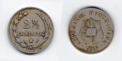 2½ centavos 1888
