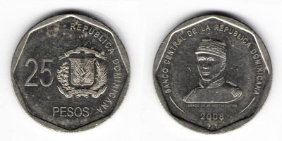 25 песо 2008 года