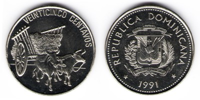 25 centavos 1991