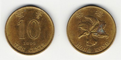 10 центов 1995 года