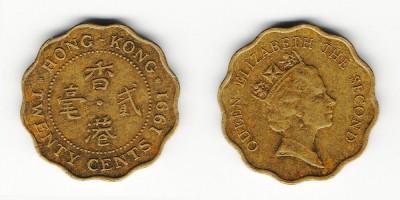 20 центов 1991 года