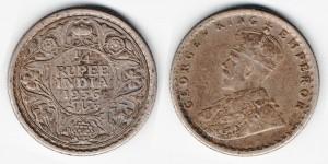 1/4 рупии 1936 года