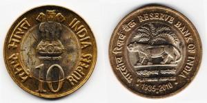 10 рупий 2010 года