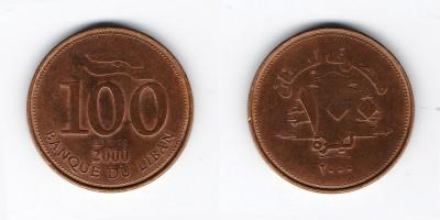 100 ливров 2000 года