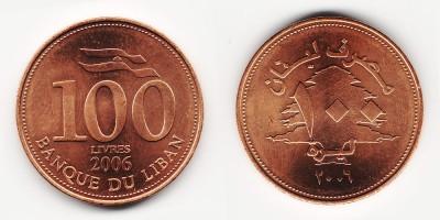 100 ливров 2006 года
