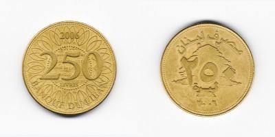 250 ливров 2006 года
