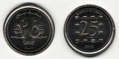 25 ливров 2002 года