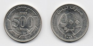 500 ливров 2009 года