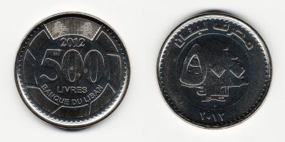 500 ливров 2012 года