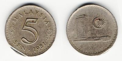 5 sen 1981