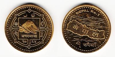 1 рупия 2007 года