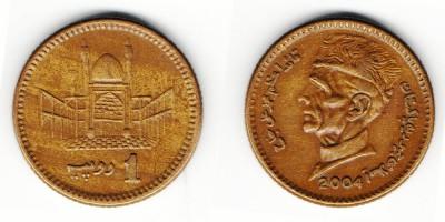 1 рупия 2004 года