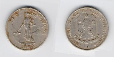 10 сентаво 1960 года