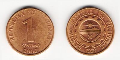 1 сентимо 2002 года