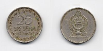 25 центов 1982 года