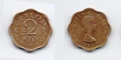 2 cents 1955