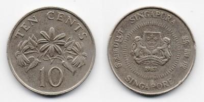 10 центов 1987 года
