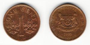 1 цент 1995 года