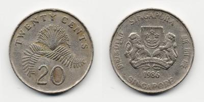 20 центов 1986 года