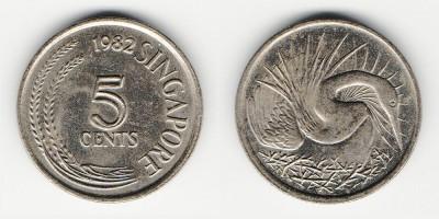 5 центов 1982 года