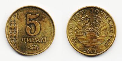 5 дирам 2011 года