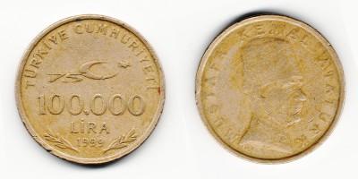 100000 lira 1999