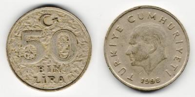50000 lira 1998