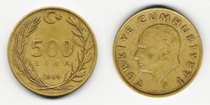 500 лир 1989 года