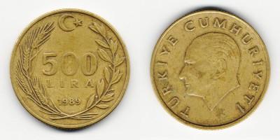 500 lira 1989