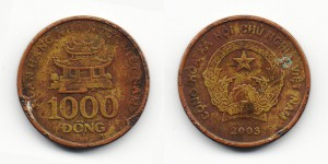 1000 донг 2003 года